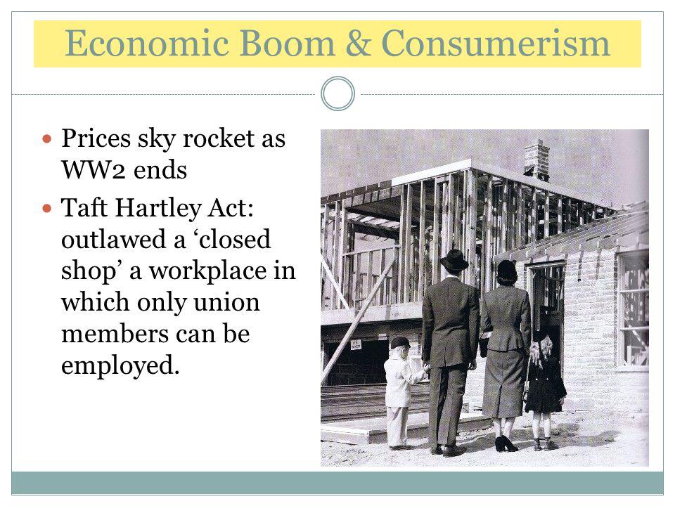 Economic Boom & Consumerism