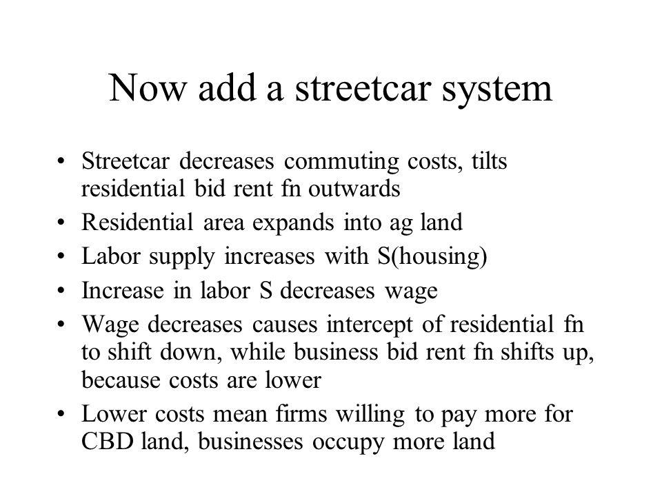 Now add a streetcar system