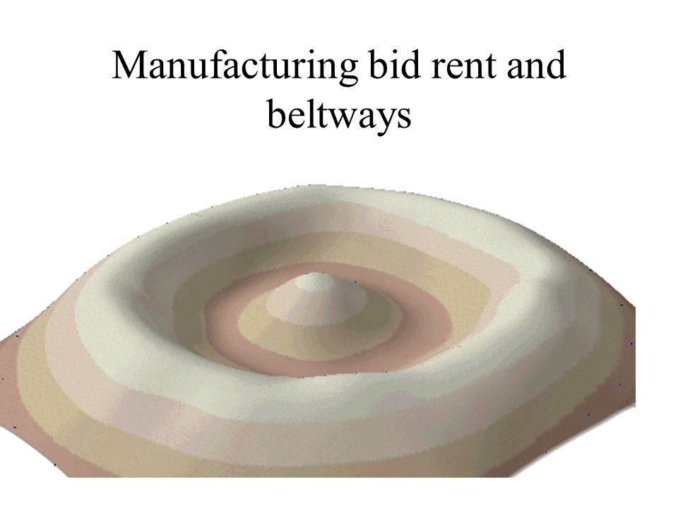 Manufacturing bid rent and beltways