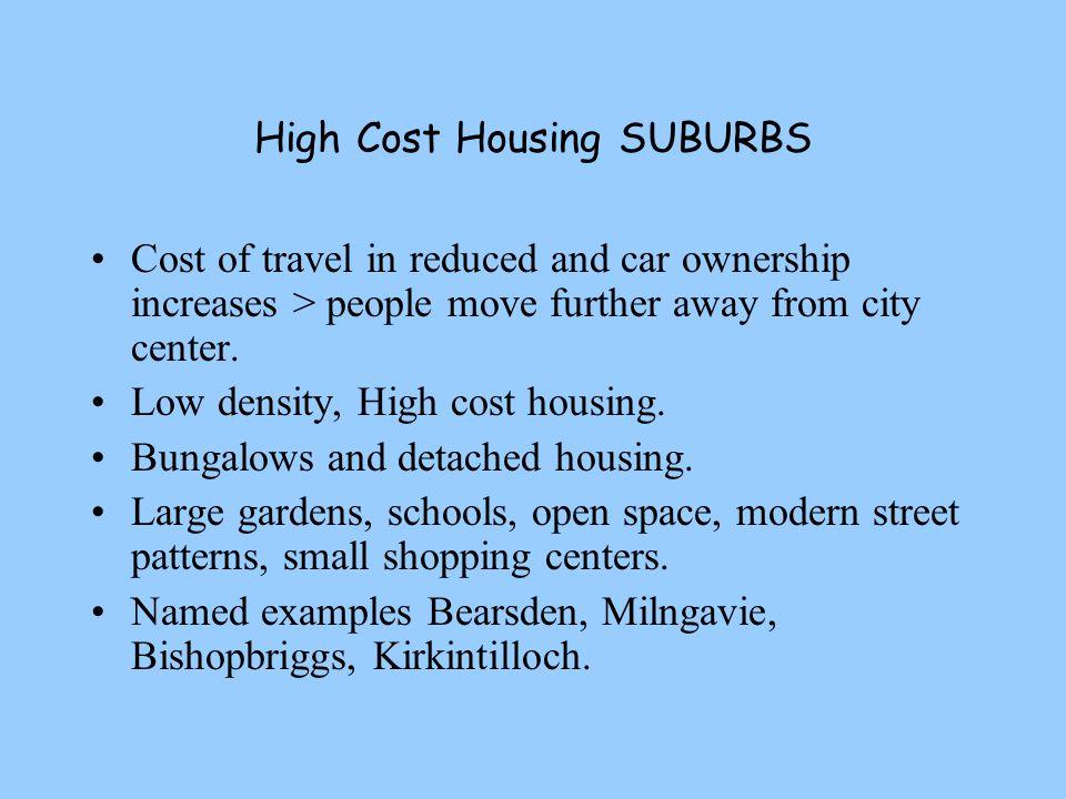 High Cost Housing SUBURBS