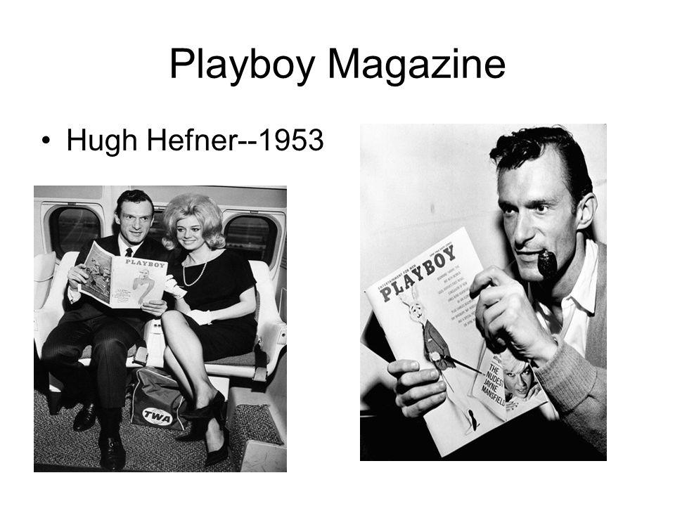 Playboy Magazine Hugh Hefner--1953