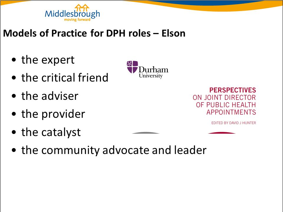 Models of Practice for DPH roles – Elson