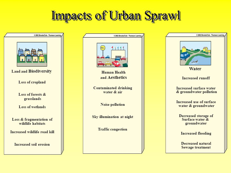Impacts of Urban Sprawl