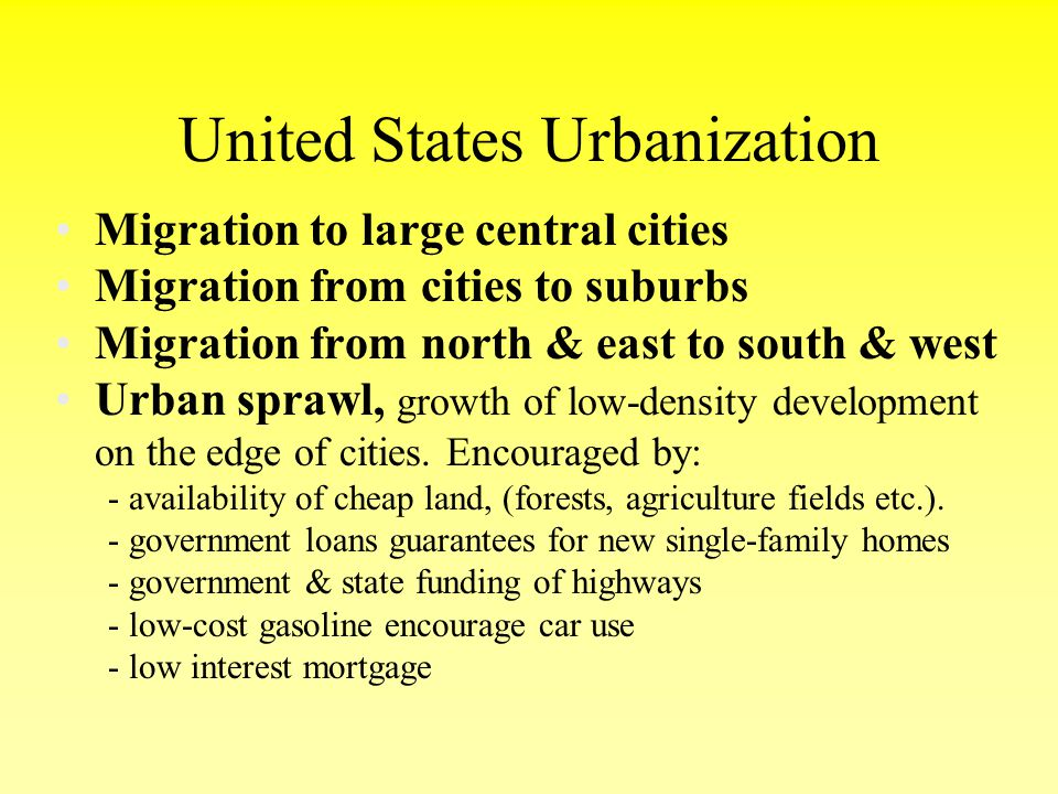United States Urbanization