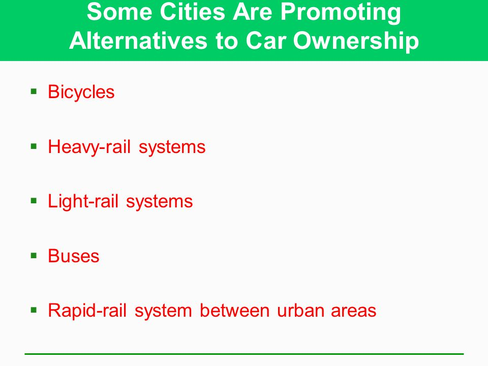 Some Cities Are Promoting Alternatives to Car Ownership