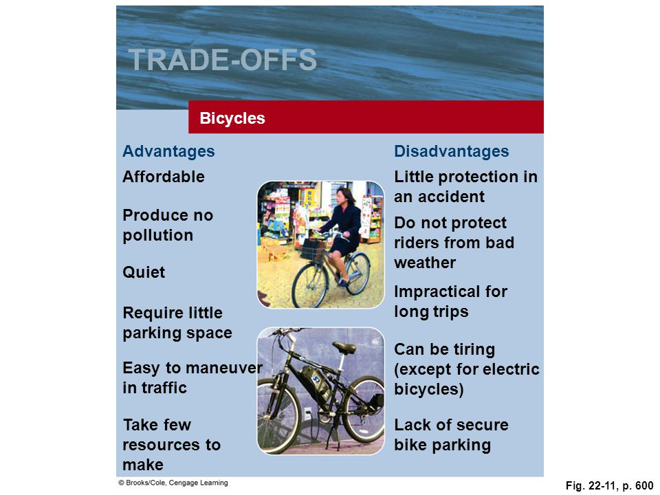 TRADE-OFFS Bicycles Advantages Disadvantages Affordable