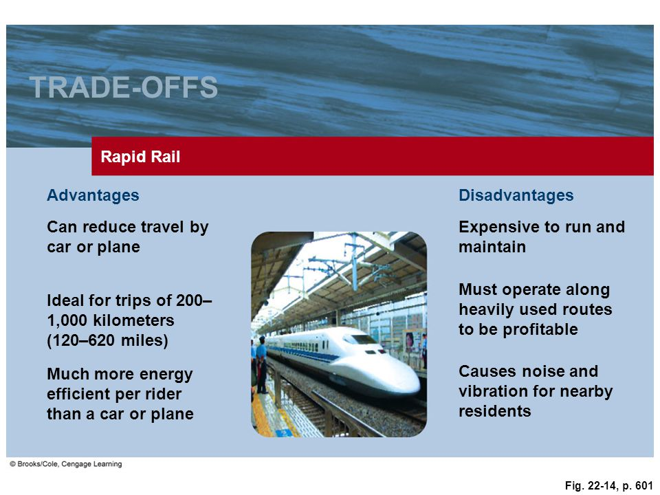 TRADE-OFFS Rapid Rail Advantages Disadvantages
