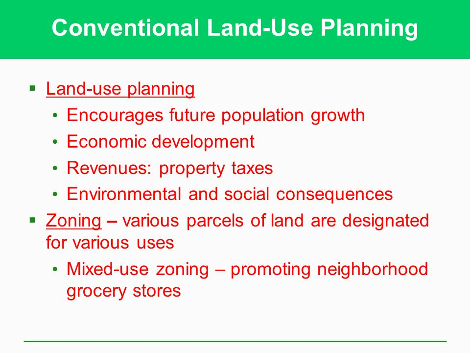 Conventional Land-Use Planning