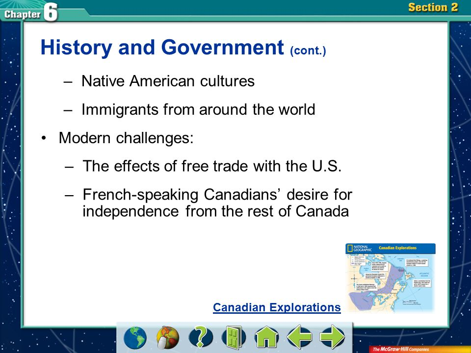 History and Government (cont.)