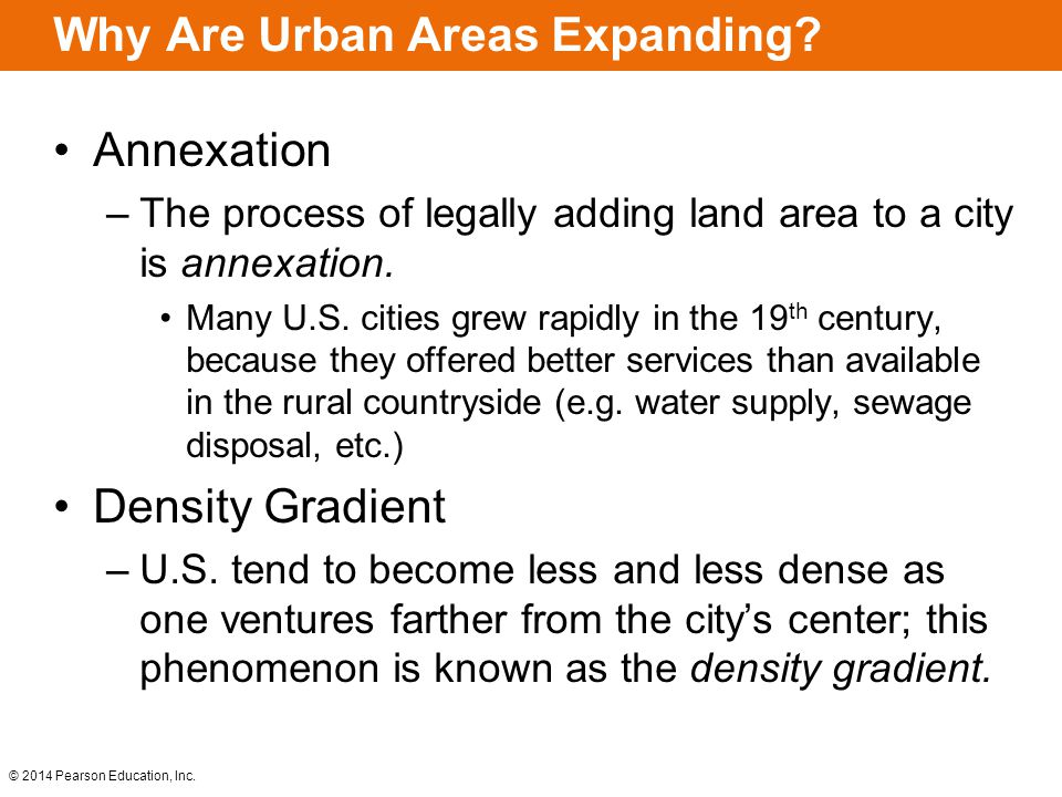 Why Are Urban Areas Expanding
