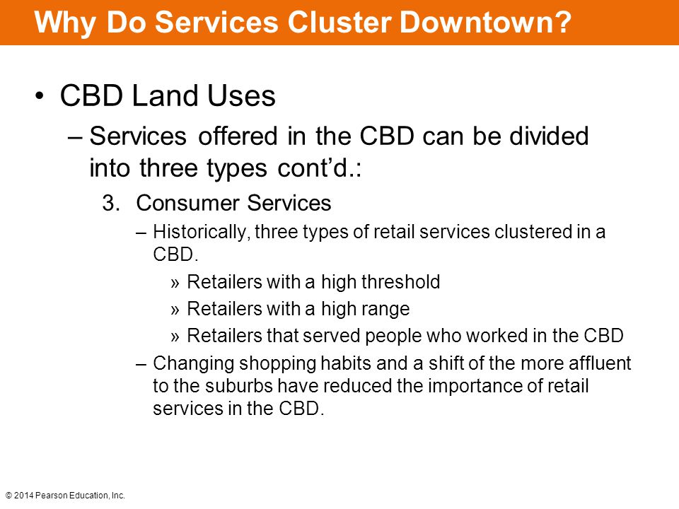 Why Do Services Cluster Downtown
