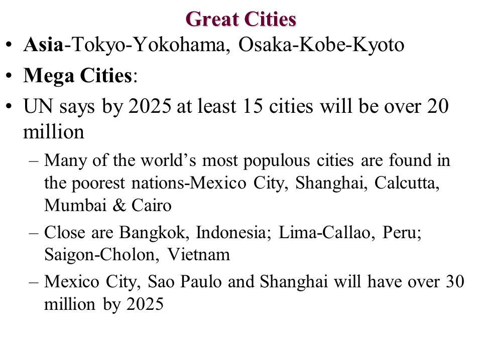 Asia-Tokyo-Yokohama, Osaka-Kobe-Kyoto Mega Cities: