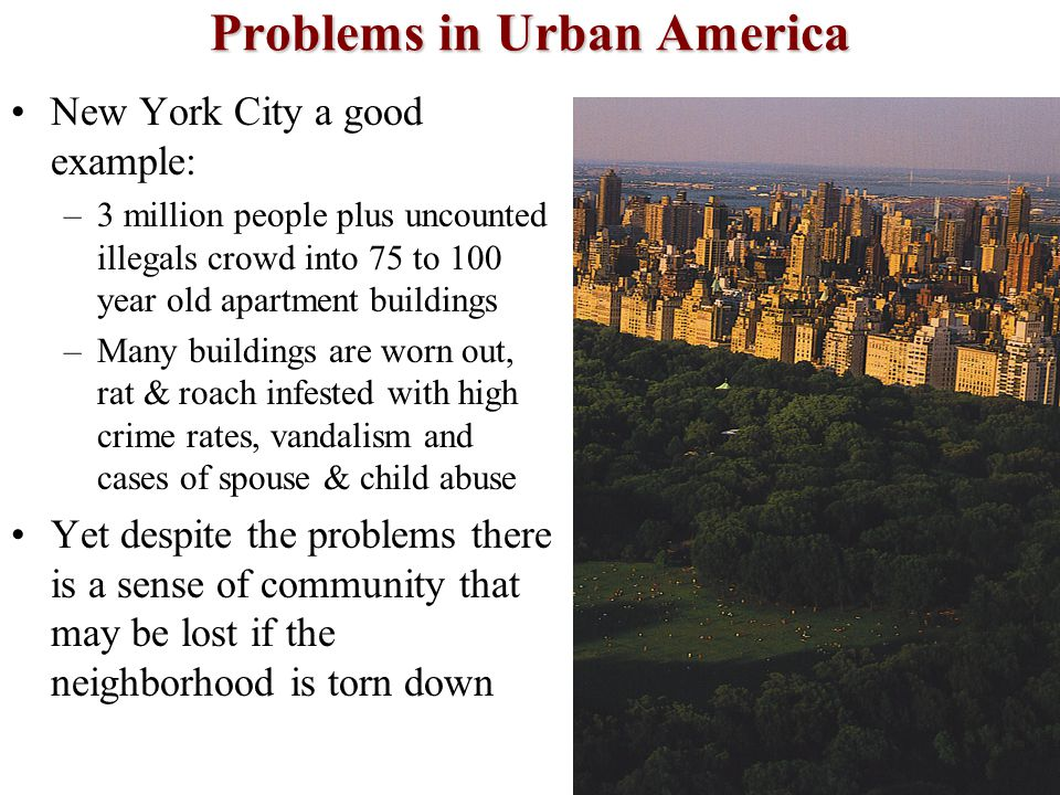Problems in Urban America