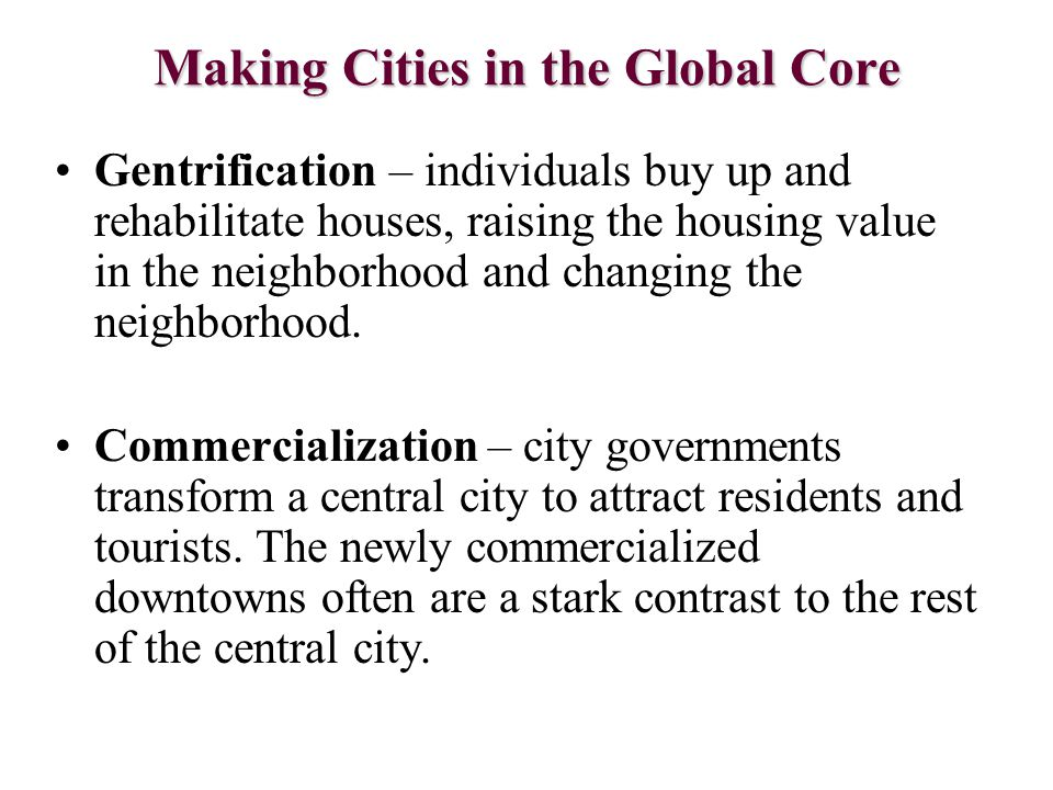 Making Cities in the Global Core