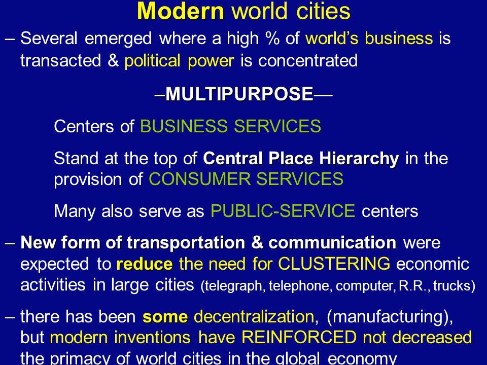 Modern world cities MULTIPURPOSE—