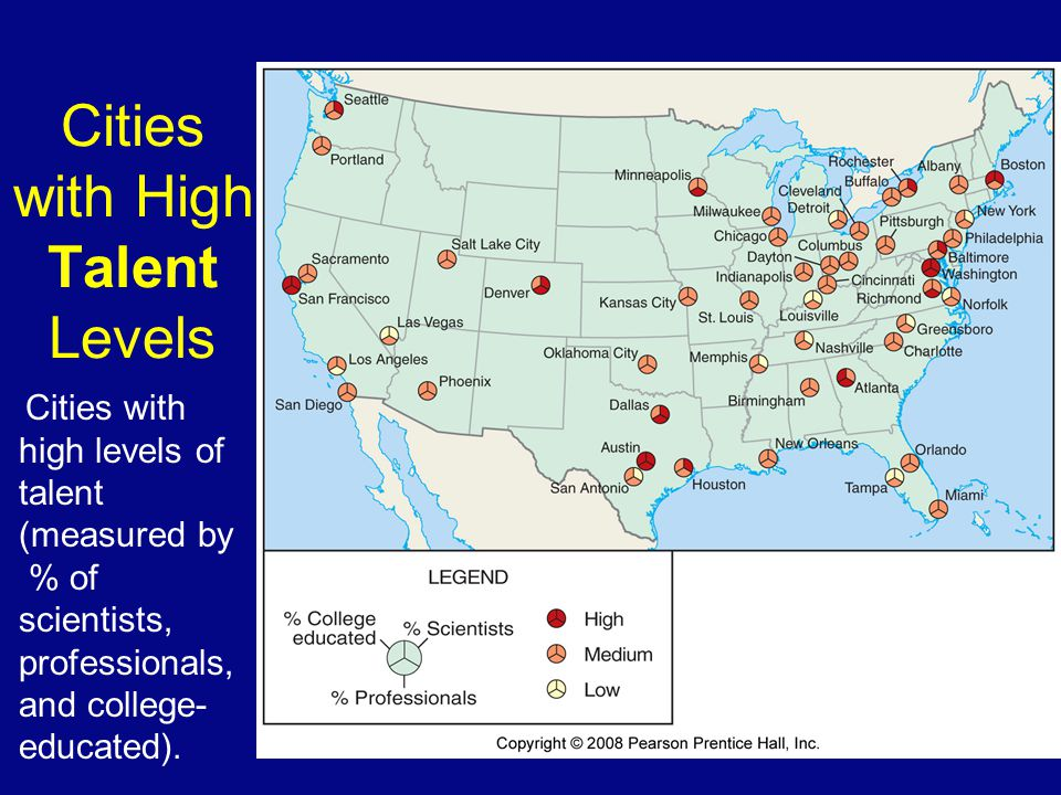 Cities with High Talent Levels