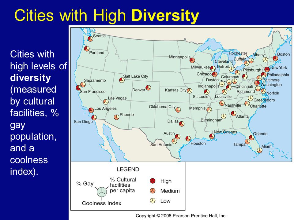 Cities with High Diversity