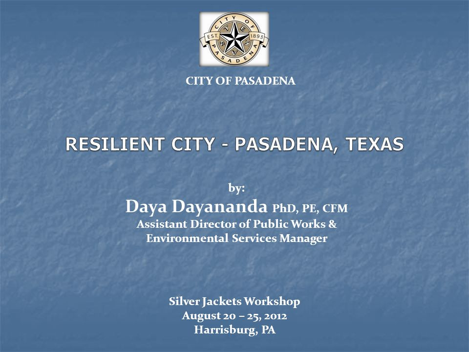 RESILIENT CITY - PASADENA, TEXAS