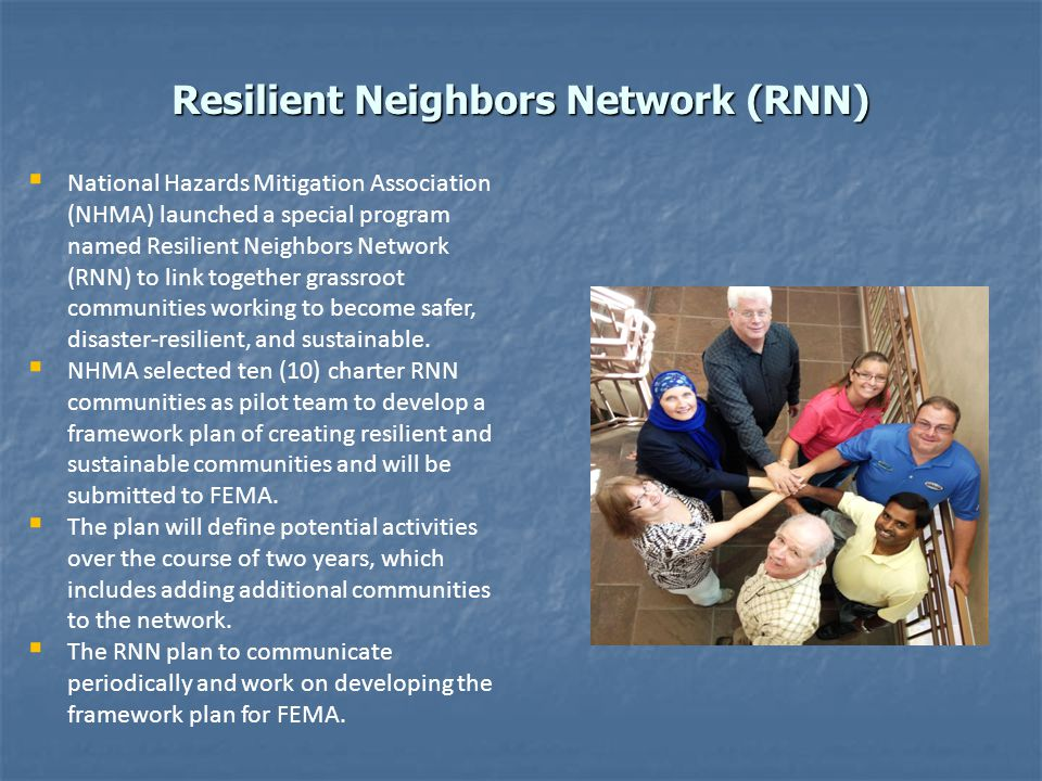 Resilient Neighbors Network (RNN)