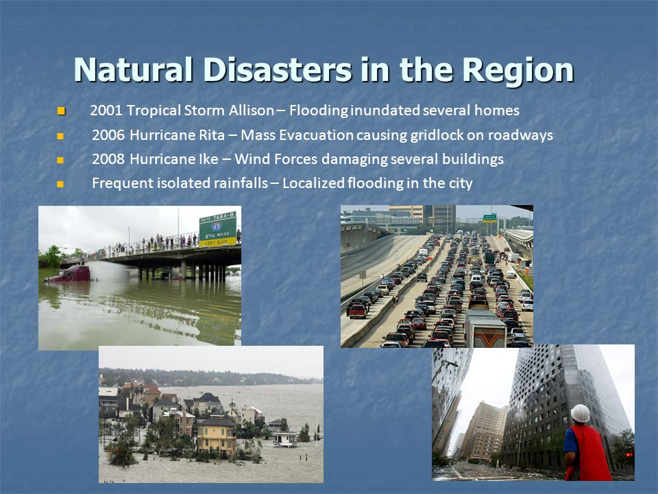 Natural Disasters in the Region