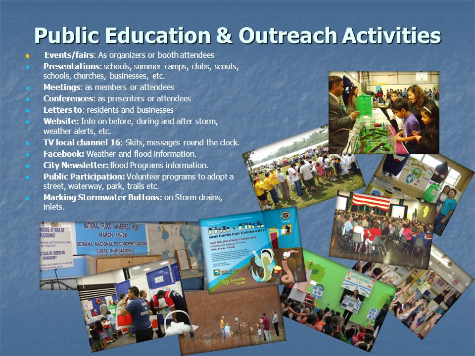 Public Education & Outreach Activities