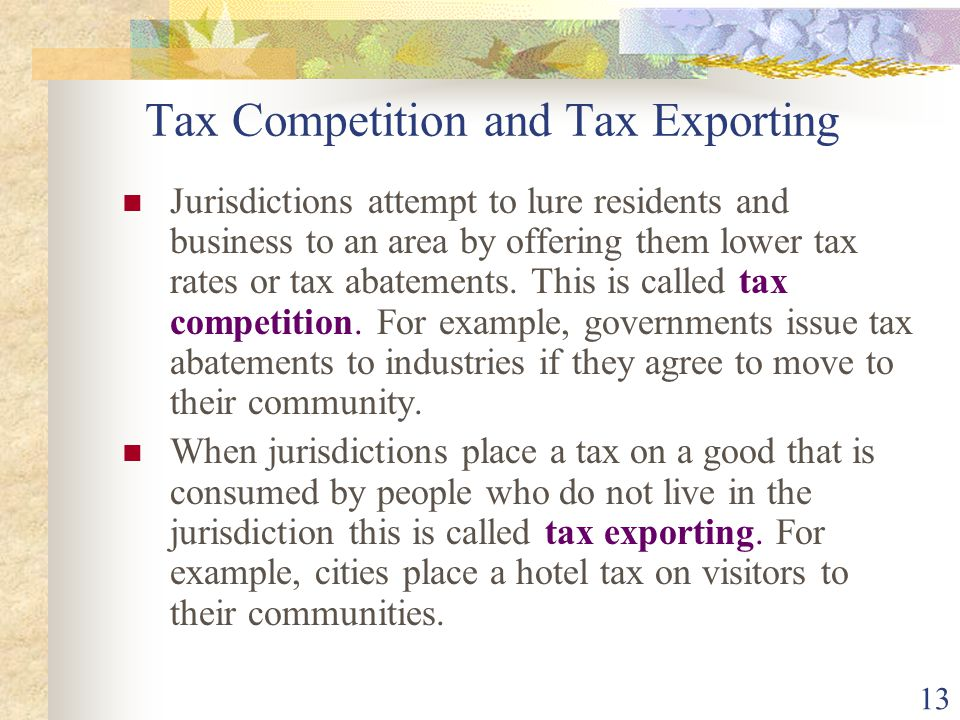 Tax Competition and Tax Exporting