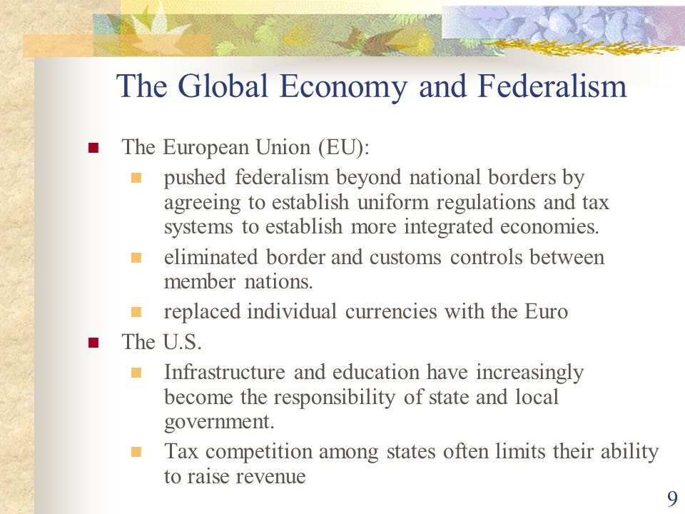 The Global Economy and Federalism