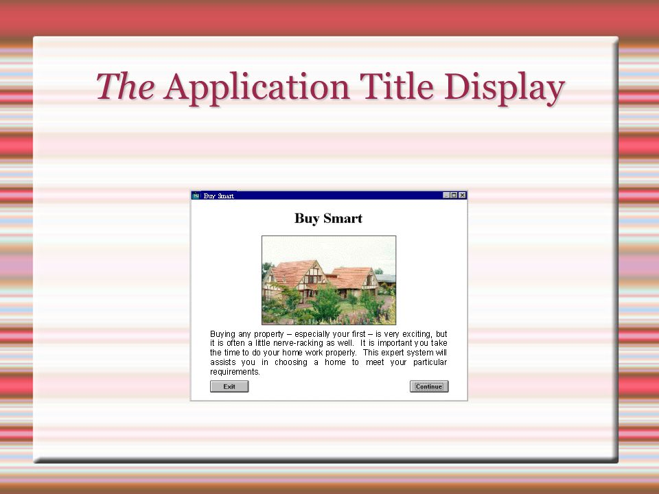 The Application Title Display