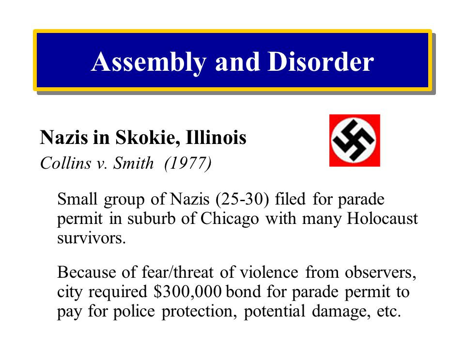 Assembly and Disorder Nazis in Skokie, Illinois