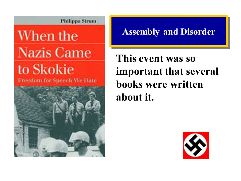 This event was so important that several books were written about it.