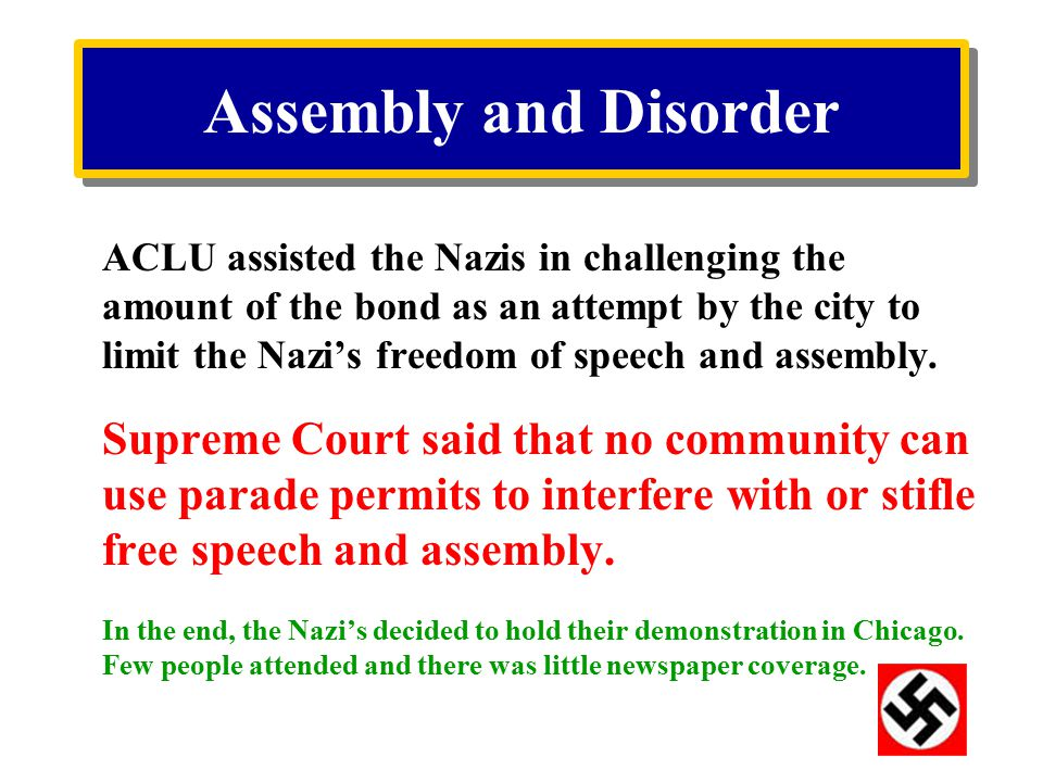 Assembly and Disorder