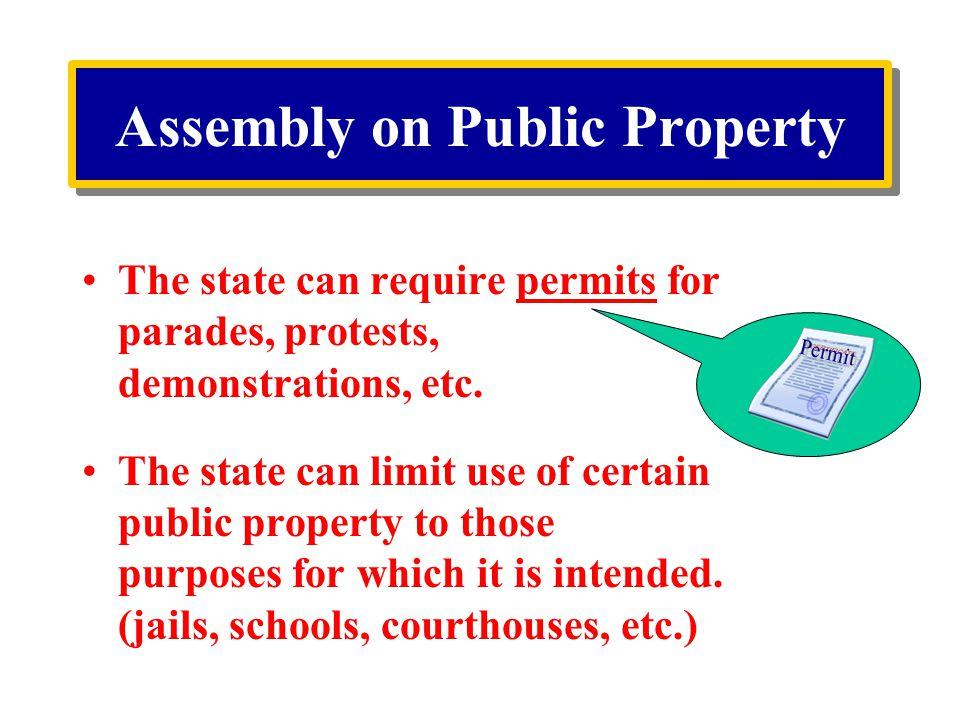 Assembly on Public Property