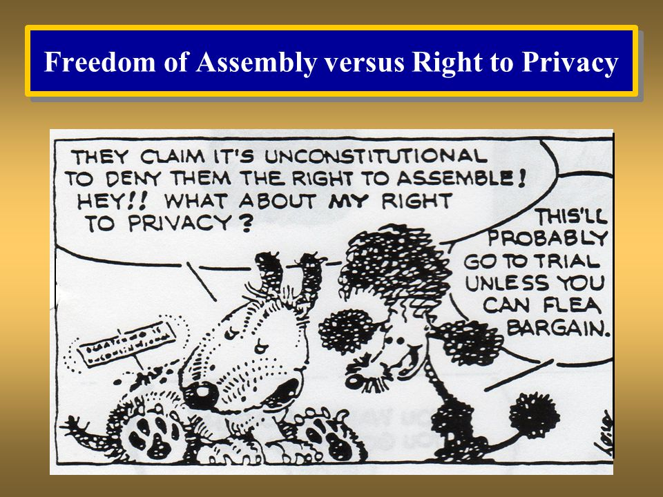Freedom of Assembly versus Right to Privacy