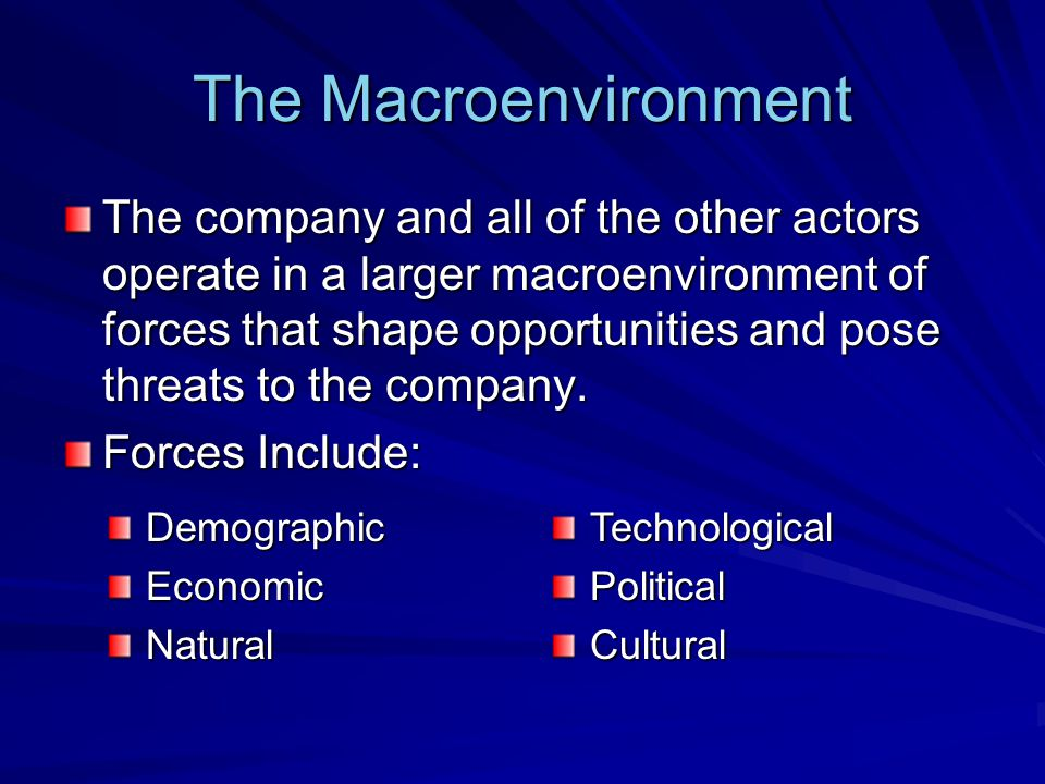 The Macroenvironment