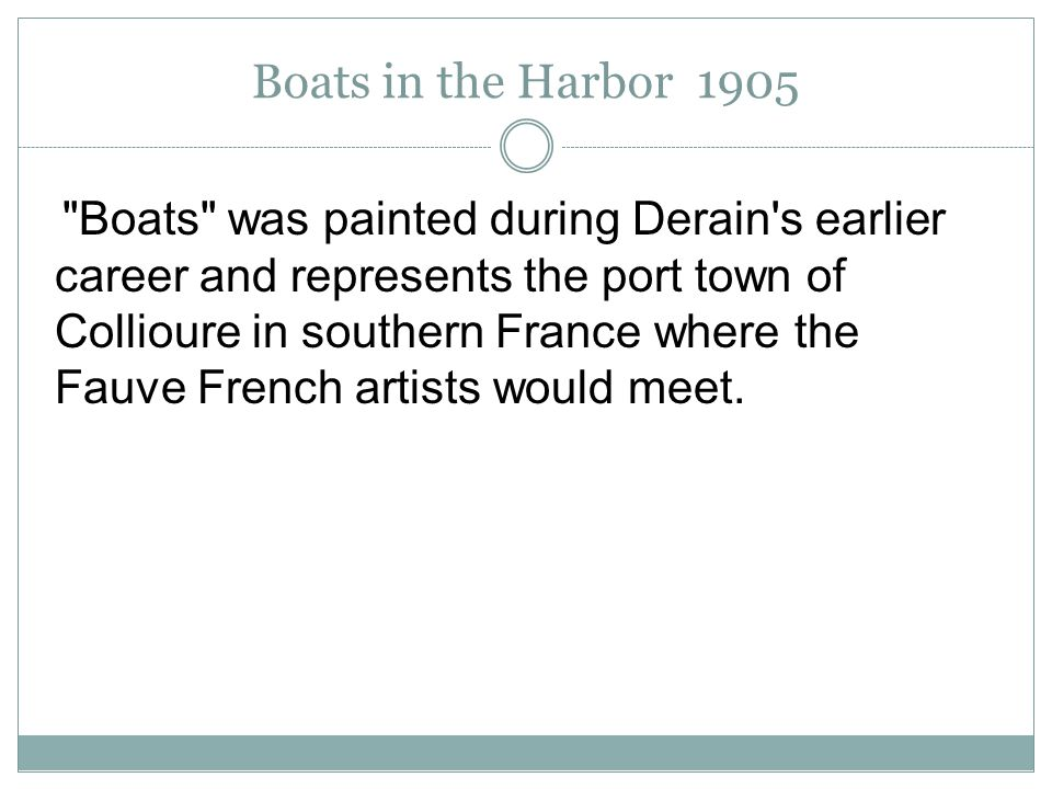 Boats in the Harbor 1905