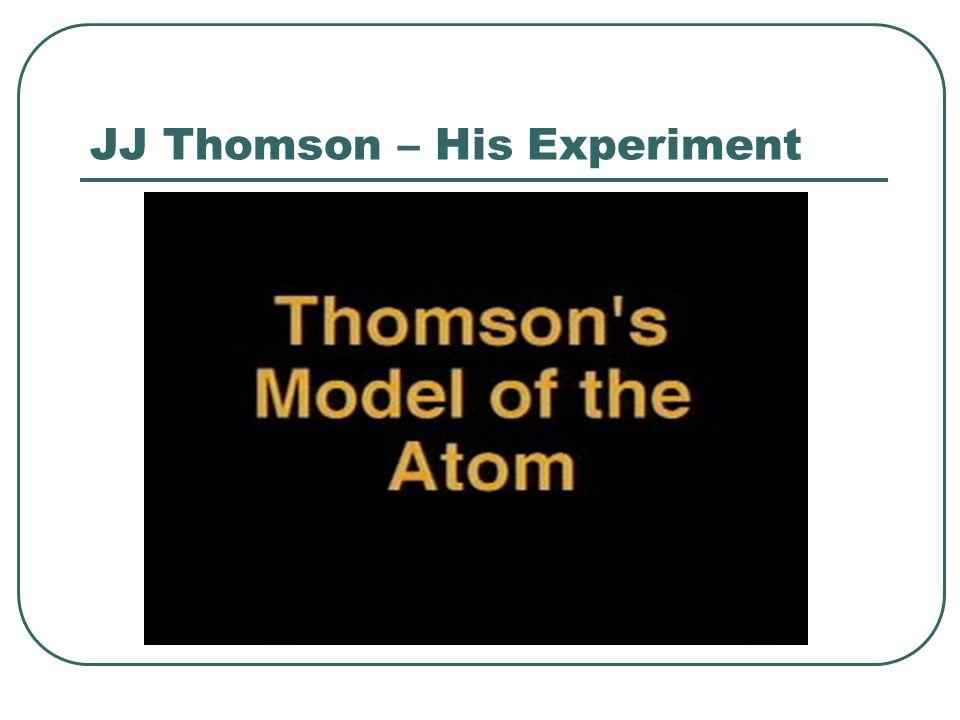 JJ Thomson – His Experiment
