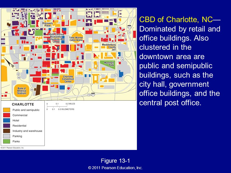 CBD of Charlotte, NC—Dominated by retail and office buildings