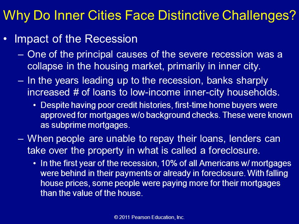 Why Do Inner Cities Face Distinctive Challenges