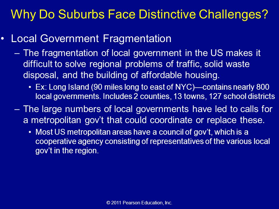 Why Do Suburbs Face Distinctive Challenges