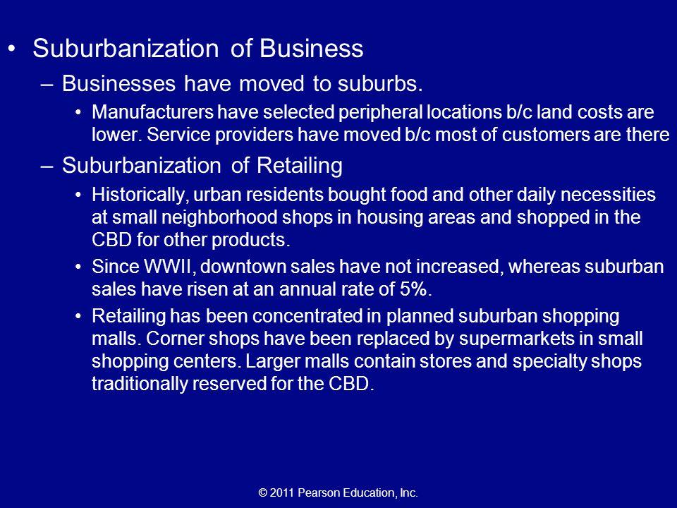 Suburbanization of Business