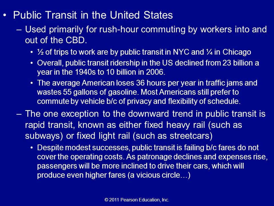 Public Transit in the United States