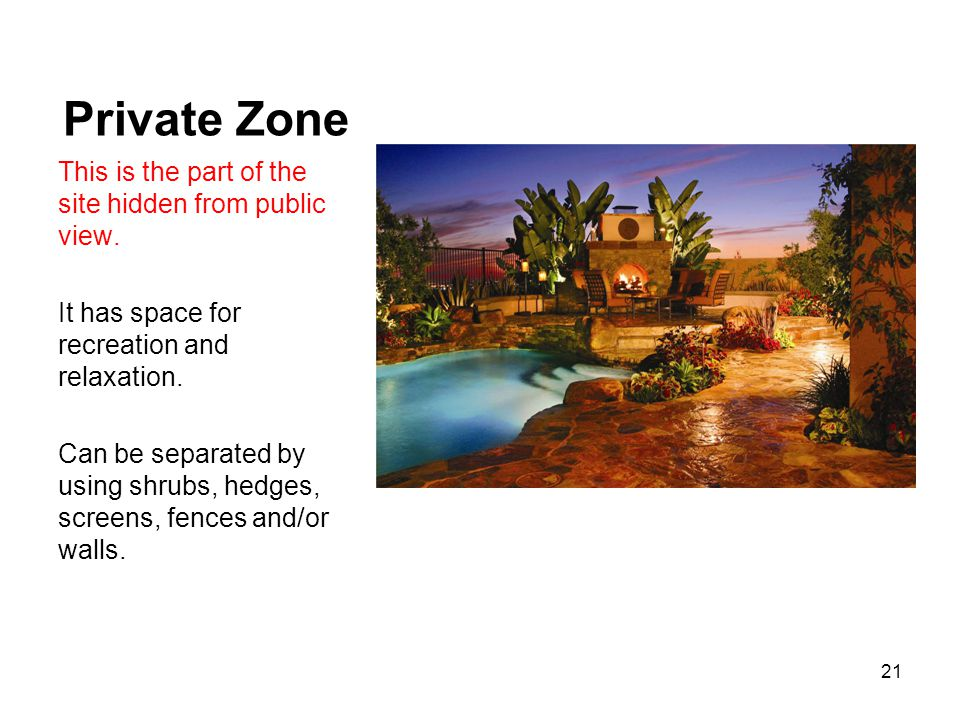 Private Zone This is the part of the site hidden from public view.