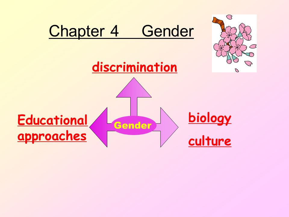 Chapter 4 Gender discrimination biology Educational approaches culture