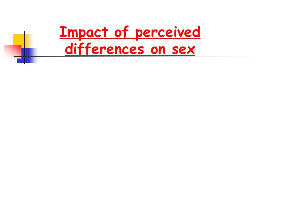 Impact of perceived differences on sex