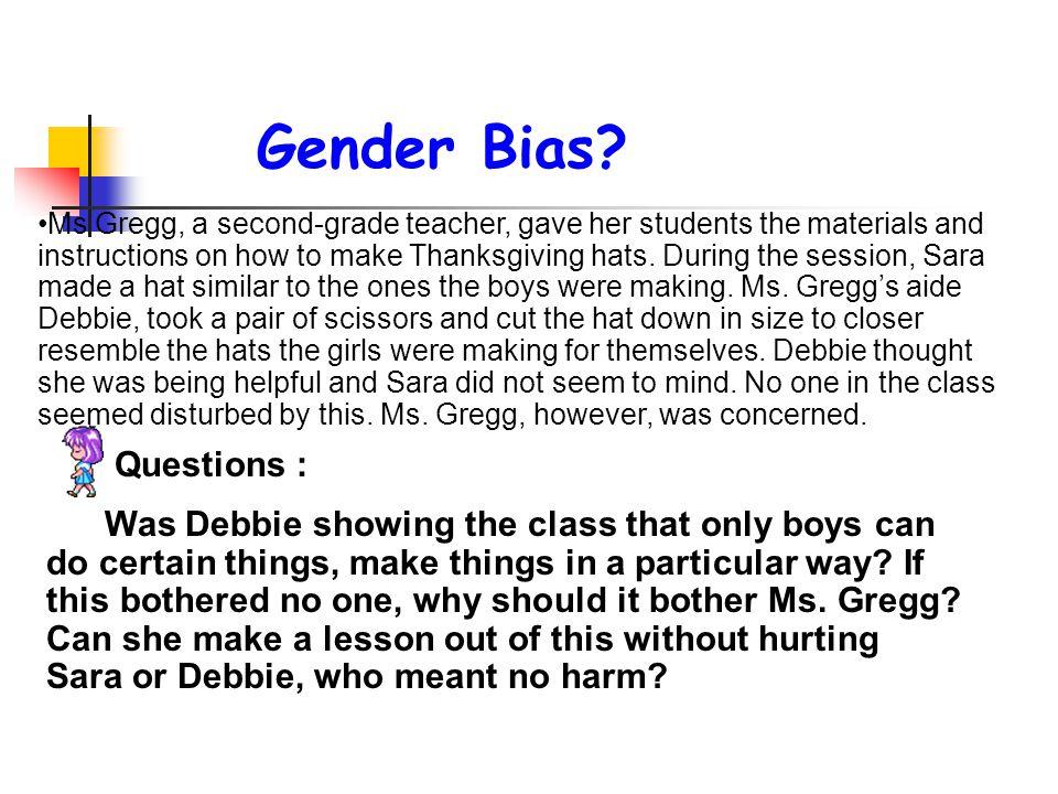 Gender Bias Questions :