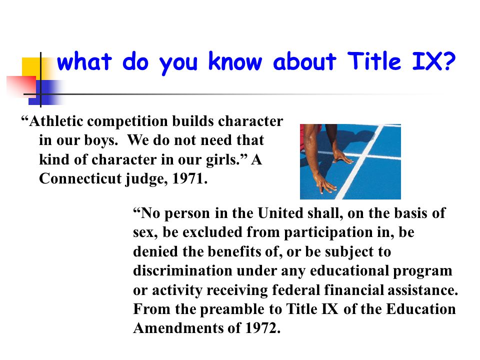 what do you know about Title IX
