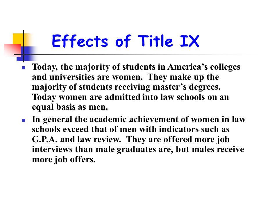 Effects of Title IX