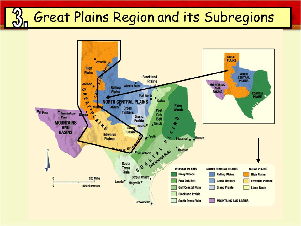 Great Plains Region and its Subregions