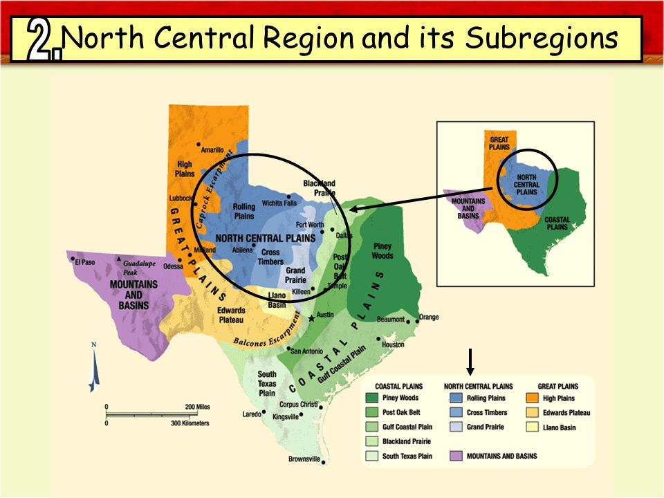 North Central Region and its Subregions