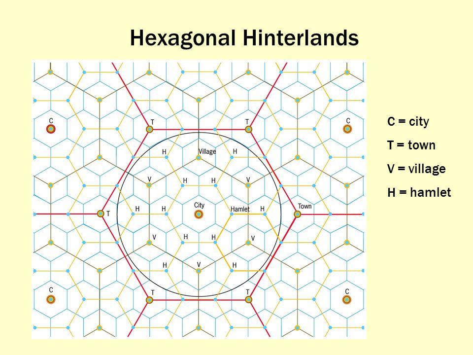 Hexagonal Hinterlands